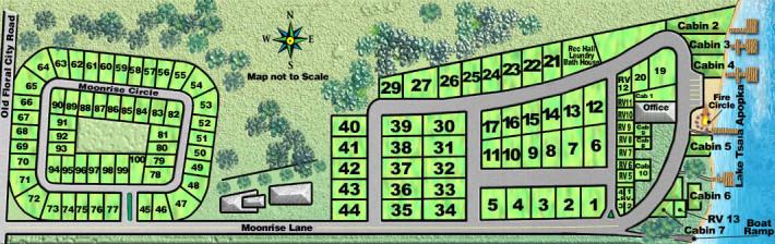site map of Moonrise Resort